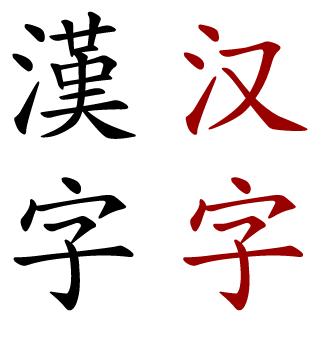 Huruf Kanji Tradisional vs Sederhana